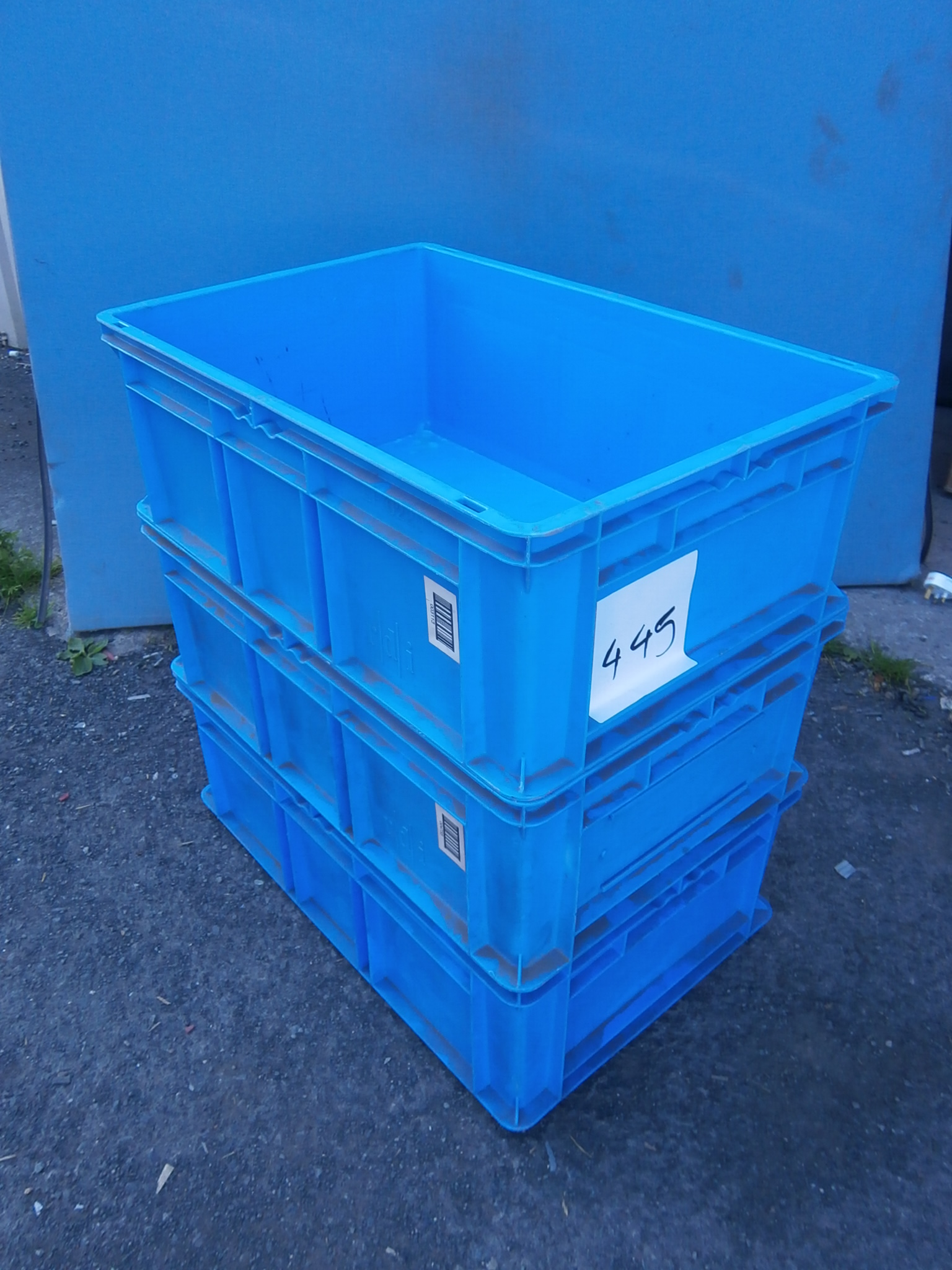 Industrial Storage Pods : Light blue commercial grade storage containers