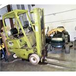 "CLARK MDL. 0500-830 PROPANE POWERED 3000# CAPACITY FORKLIFT TRUCK, WITH 130"" REACH, 3-STAGE MAST,"