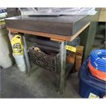 """24"""" X 36"""" X 4"""" GRANITE SURFACE PLATE WITH TABLE (NO CONTENTS)"""