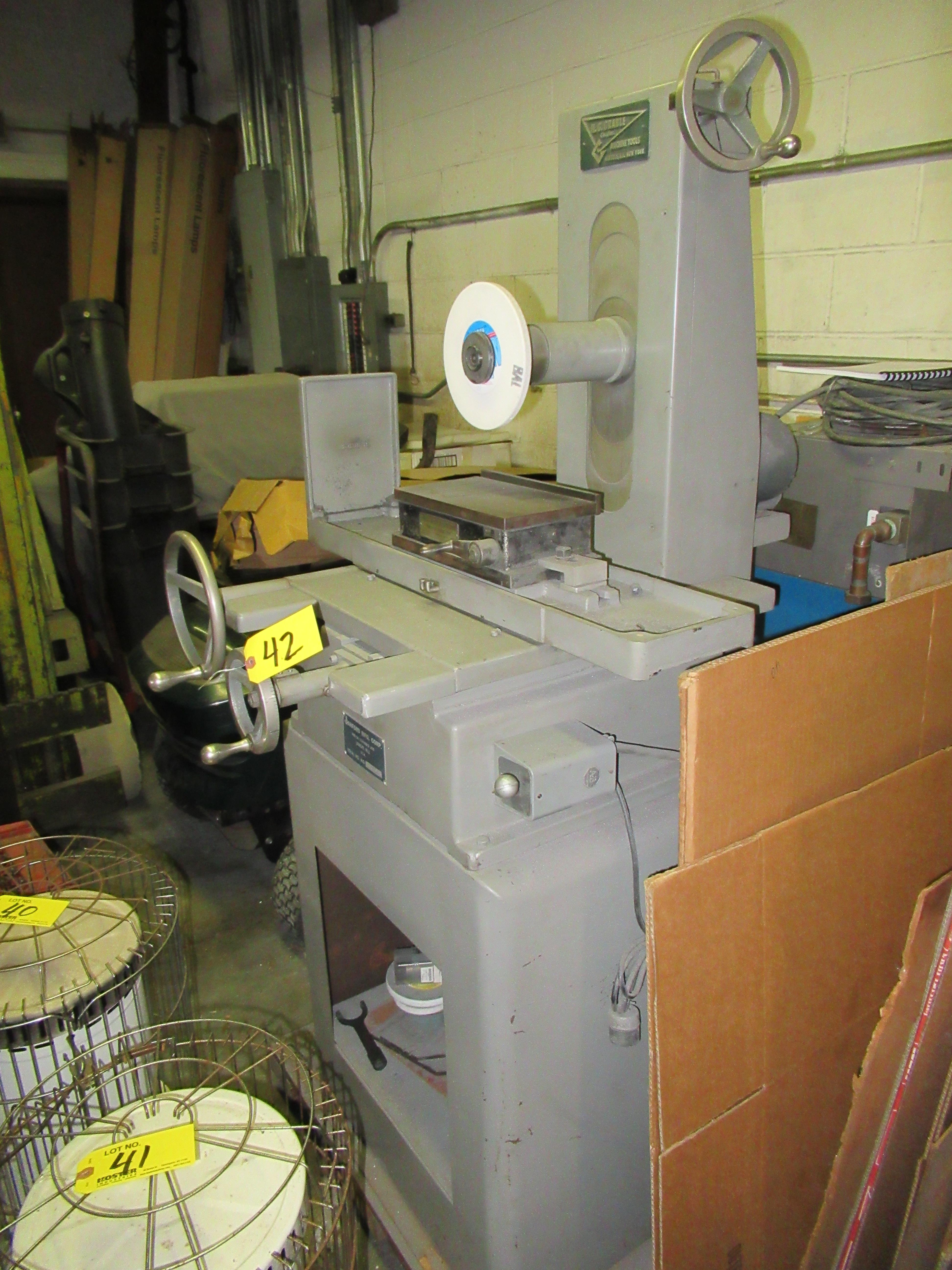 """SANFORD MFG. 5"""" X 10"""" HAND FEED SURFACE GRINDER, WITH 5"""" X 10"""" BROWN & SHARPE MAGNETIC CHUCK, 1/2HP, - Image 3 of 8"""