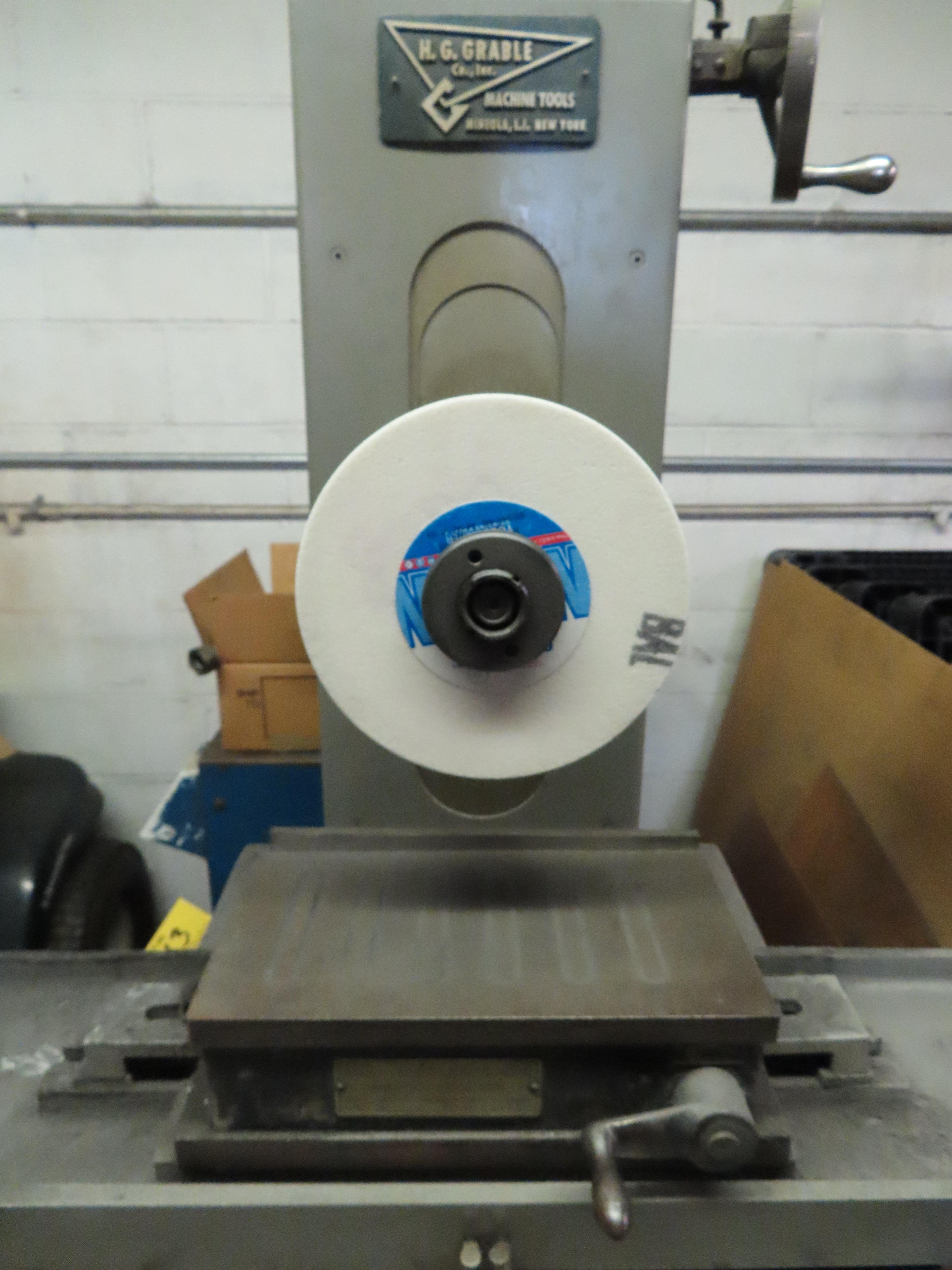 """SANFORD MFG. 5"""" X 10"""" HAND FEED SURFACE GRINDER, WITH 5"""" X 10"""" BROWN & SHARPE MAGNETIC CHUCK, 1/2HP, - Image 2 of 8"""