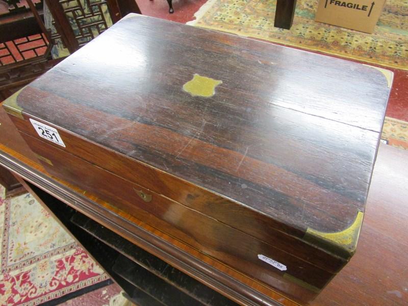 Lot 251 - Rosewood writing box