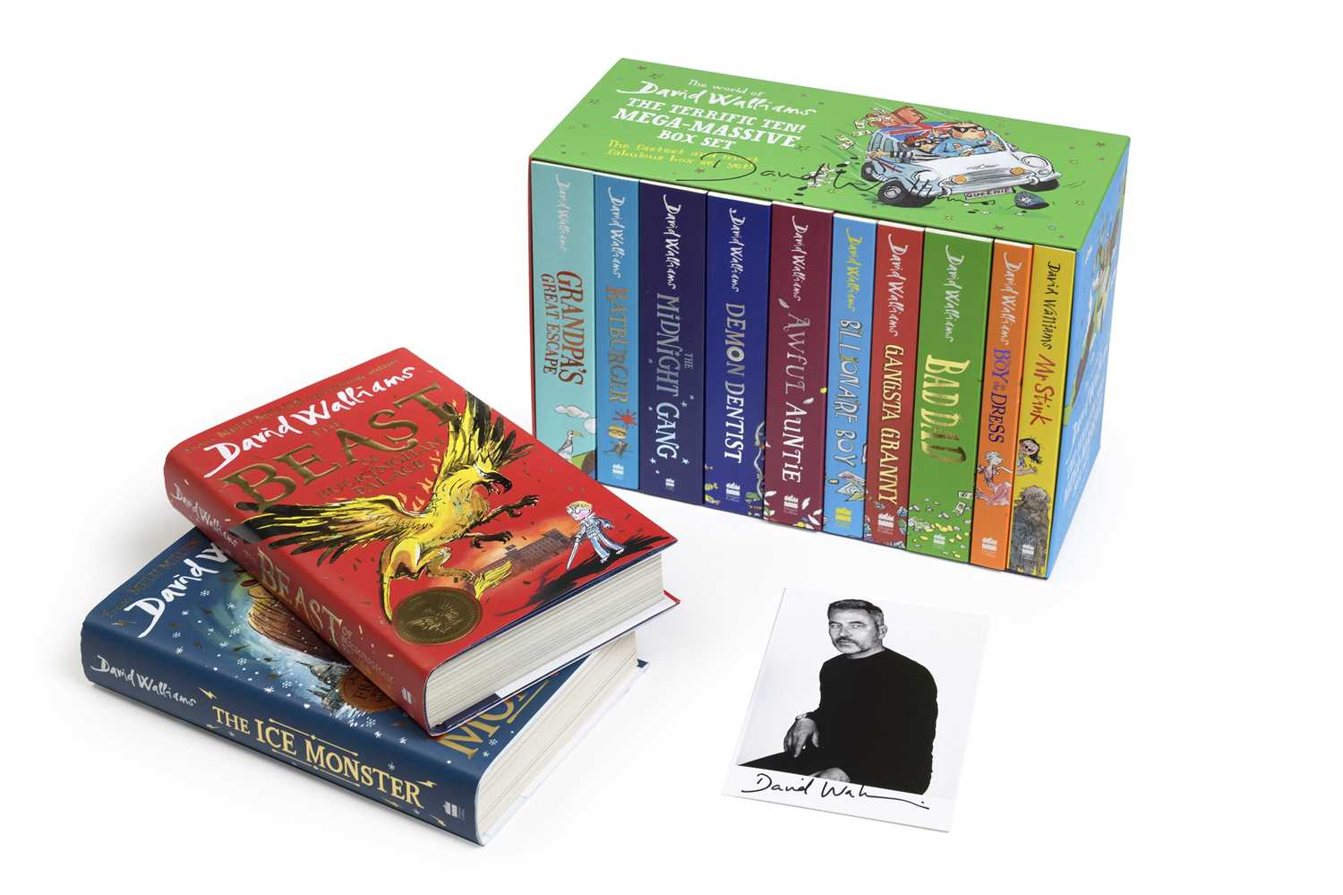 Signed David Walliams OBE Book Collection Each book in this collection is signed by the critically