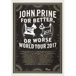 Signed John Prine World Tour Poster 2017 The sad loss of the much-loved American songwriter John
