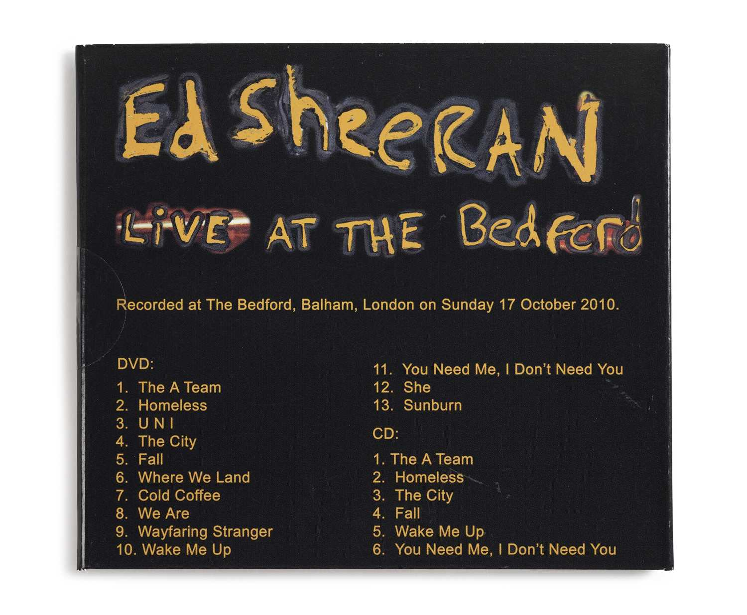 Signed Ed Sheeran Live at the Bedford CD & DVD 2010 A DVD and EP released independently by Ed - Image 2 of 2