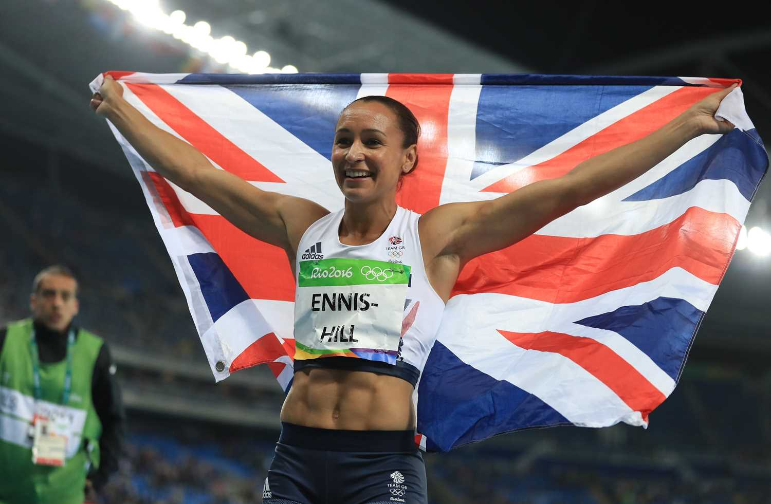 Signed Dame Jessica Ennis-Hill 2016 Team GB Rio Olympics Games Vest Olympic and triple world - Image 3 of 3