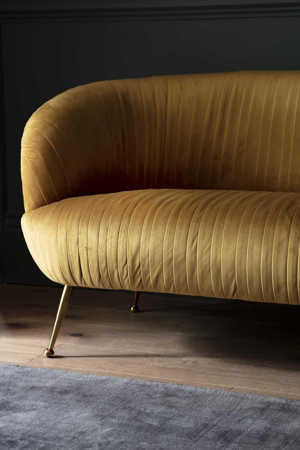 Direct Furniture Frank Hudson Gallery Valenza 3-Seater Sofa, Gold Velvet Fabric Whether you live - Image 3 of 3