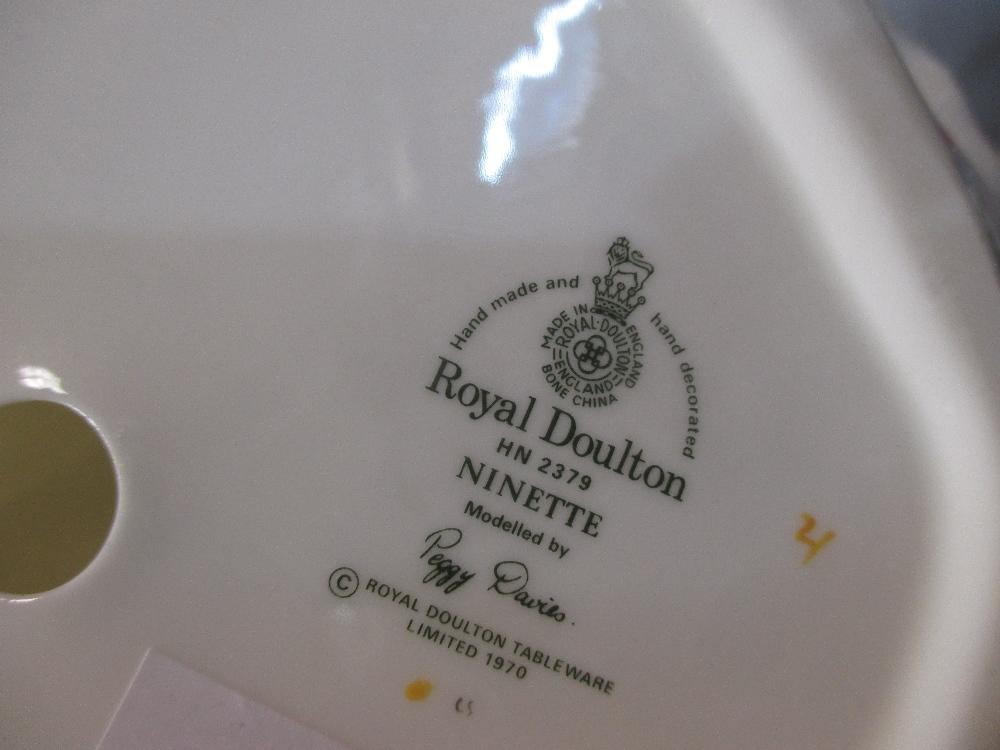 Lot 57 - Royal Doulton figures including - Victoria, Ninette, Janine, Hilary, Caroline, Rachel, Repose,