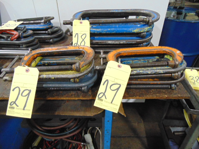 """Lot 29 - LOT OF C-CLAMPS (10), 12"""""""