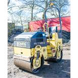 Bomag BW80 ADH-2 double drum ride on roller Year: S/N: 101460424679 Recorded Hours: 1143 88