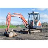 Kubota KX61-3 2.6 tonne rubber tracked mini excavator Year: 2006 S/N: 75518 Recorded Hours: 6513