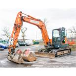 Doosan DX80R 8 tonne rubber tracked midi excavator Year: 2013 S/N: 50913 Recorded Hours: 4751 blade,