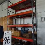 (Lot) Rack & Cabinet w/ Contents