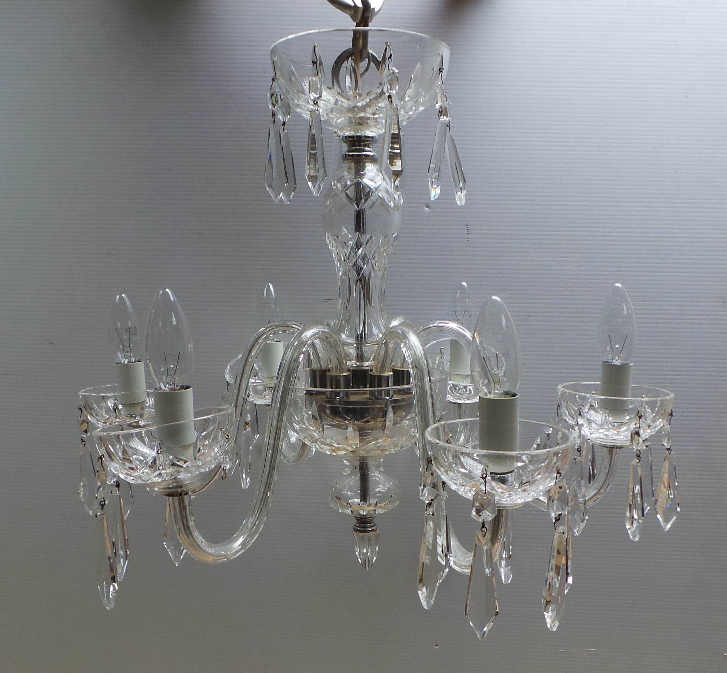 Waterford Crystal Lismore Six Arm Chandelier