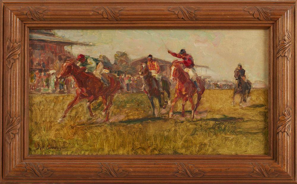 Auktionslos 27 - Gemälde Joseph Correggio 1810 Wolfratshausen - 1891 München Vater von Ludwig und Max C., studierte