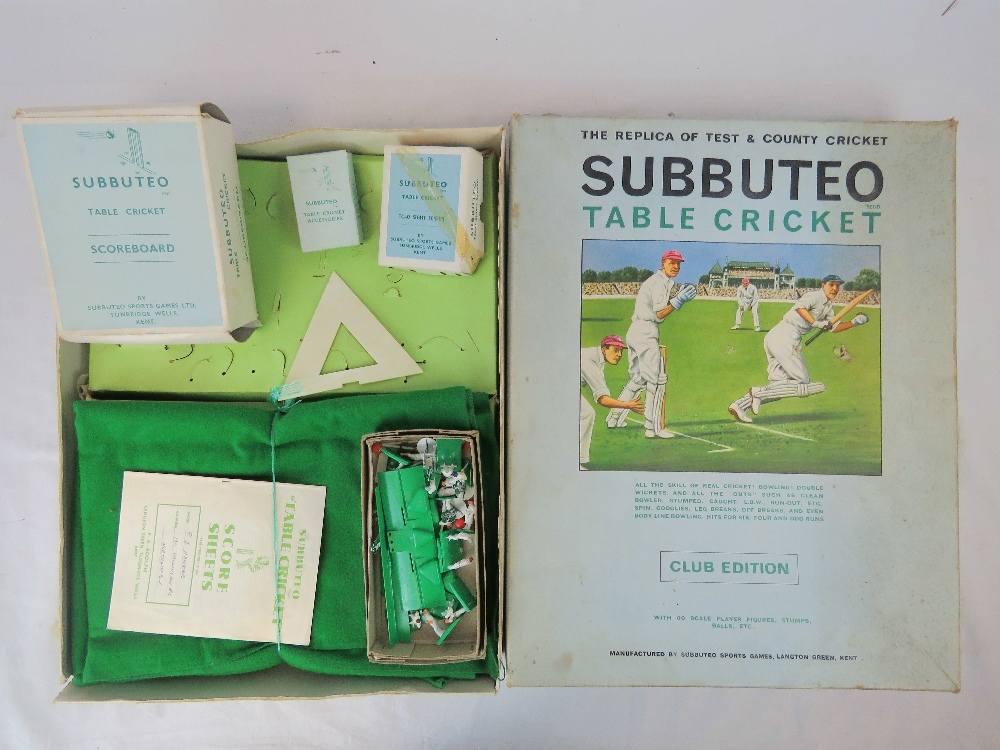 Lot 443 - Subbuteo Table Cricket Club Edition, wit
