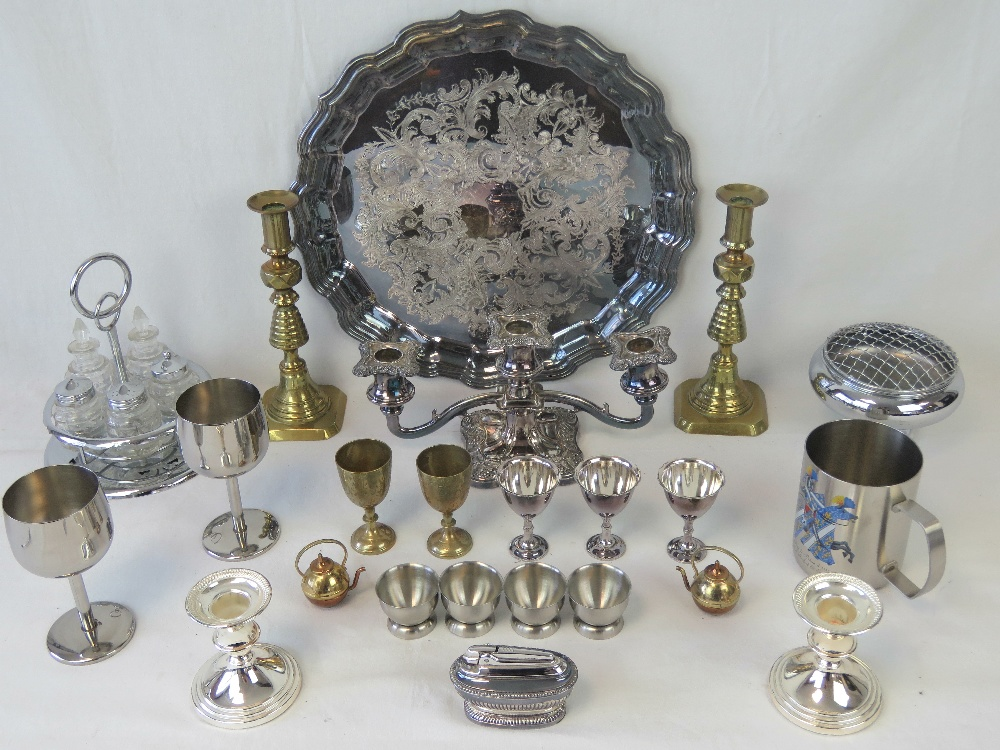Lot 573 - A large silver plated tray made by Viner
