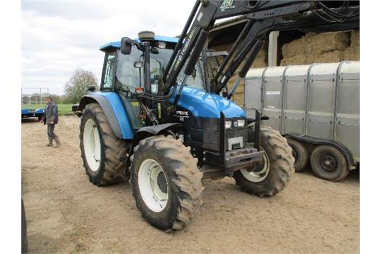 2000 New Holland TS110, 4WD tractor, c/w Trima 480 professional