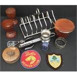 Collectable Parcel of Assorted Items Includes Butlins Badge Toast Rack etc