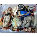 Vintage Box of 15 Mid Century World Dolls