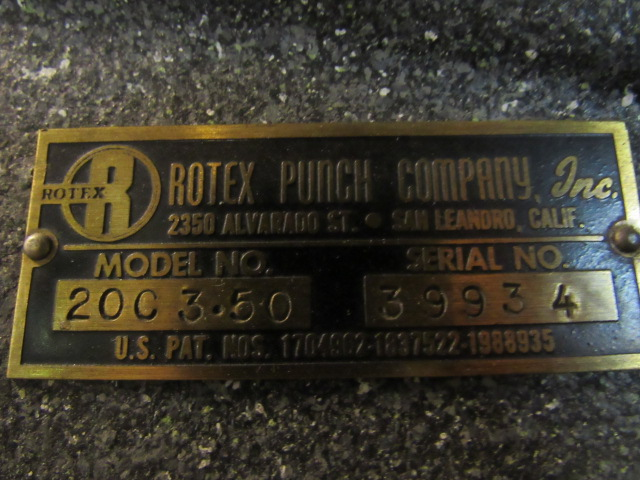 Rotex Model 20C3-50 24-Station Turret Punch, sn: 39934 - Image 5 of 5
