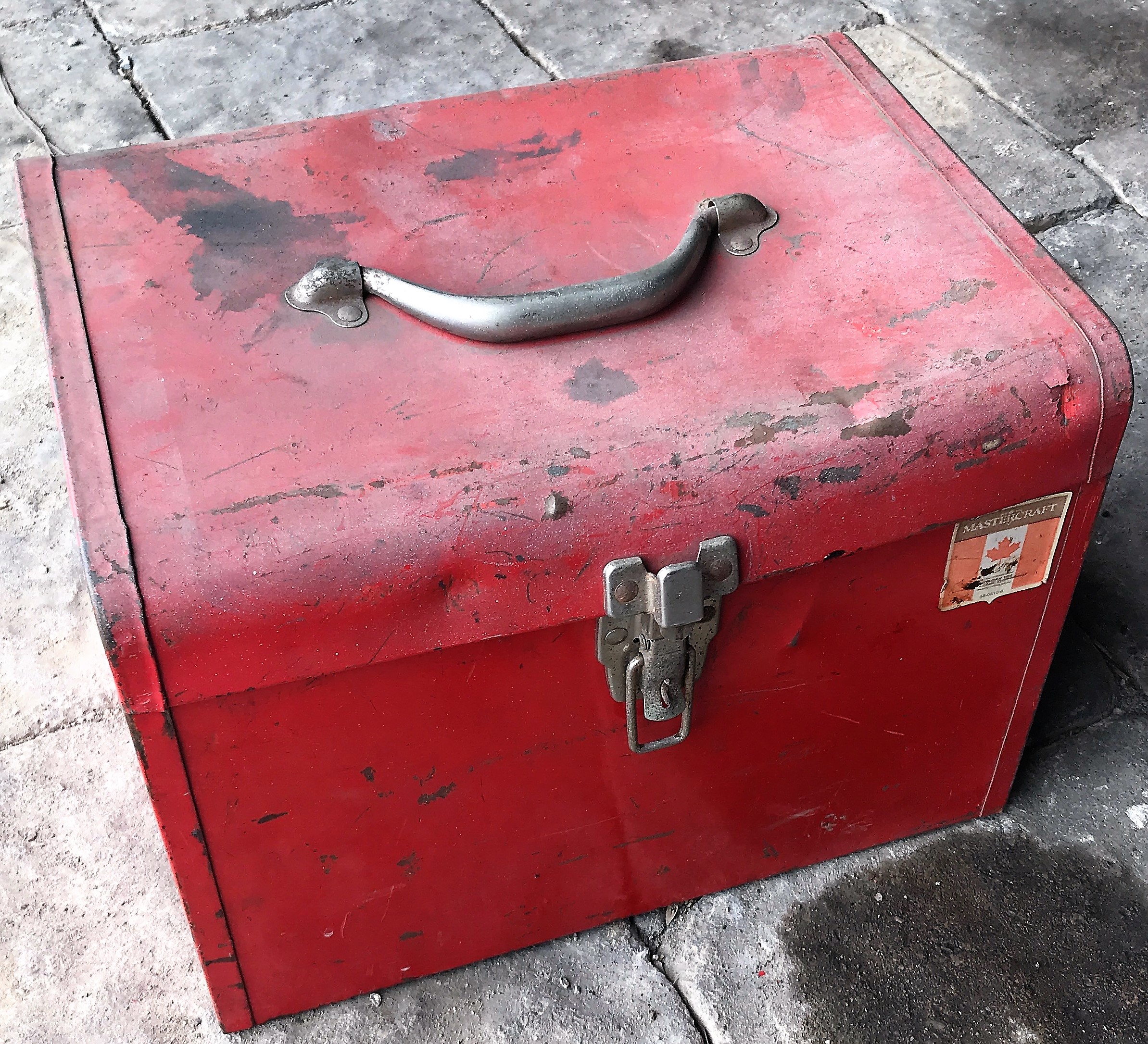 Lot 54 - TOOLBOX W/ CONTENTS INCLUDING WRENCHES, SUPPLIES, ETC.