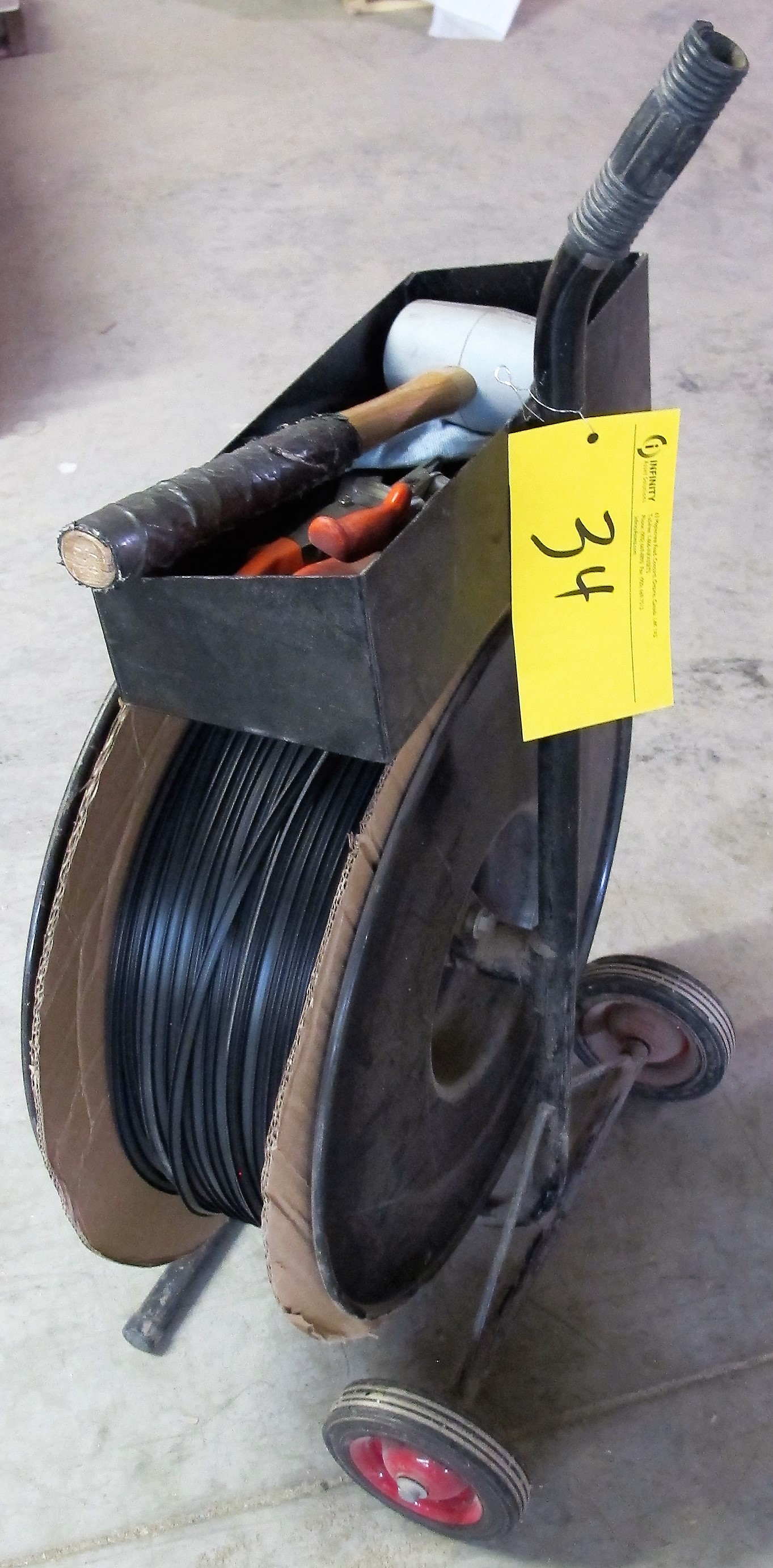 Lot 34 - STRAPPING CART W/ TOOLS