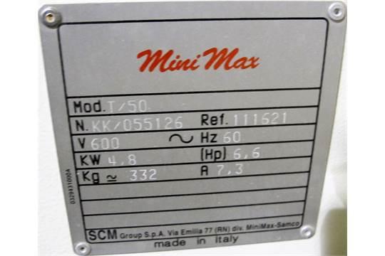 SCM MINI MAX T/50 SHAPER, 9,000 RPM