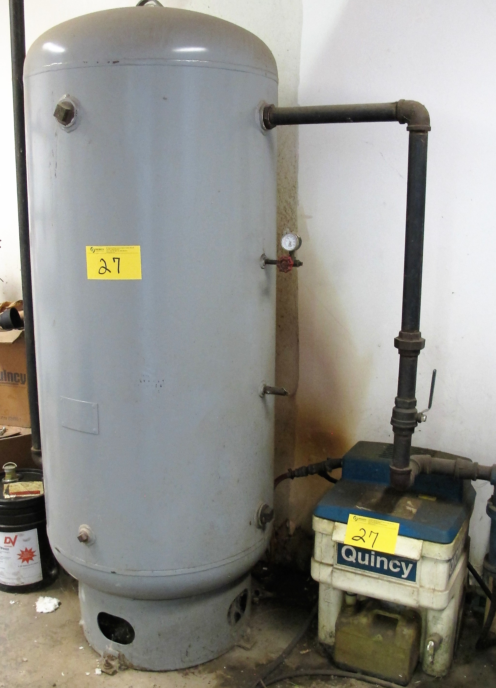 Lot 27 - QUINCY OIL/WATER SEPARATOR W/ AIR RECEIVING TANK