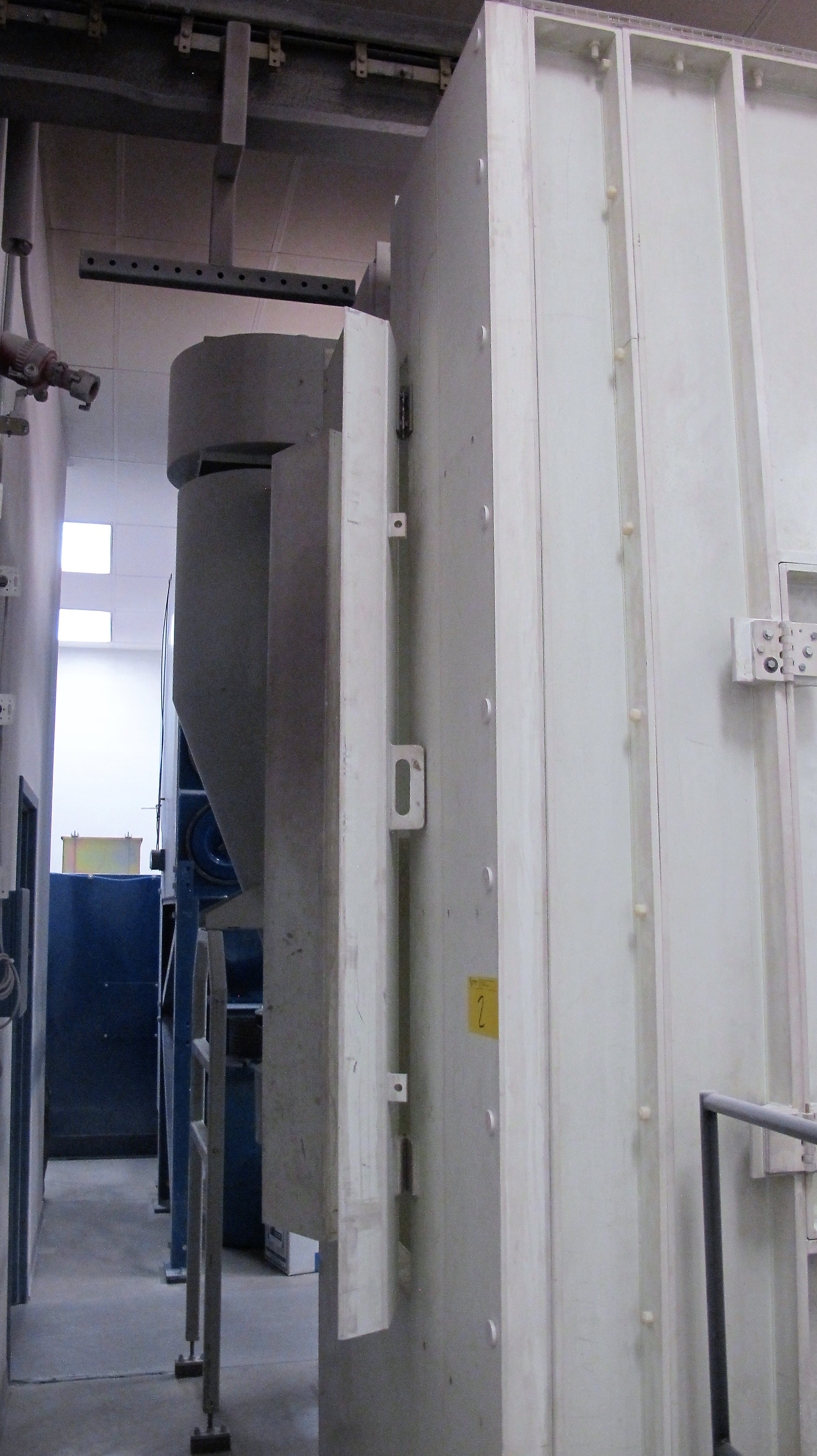 Lot 2 - 2001 NORDSON CK5400 FLOW-THROUGH ELECTROSTATIC POWDER COATING PAINT BOOTH, S/N E-00012123 APPROX.