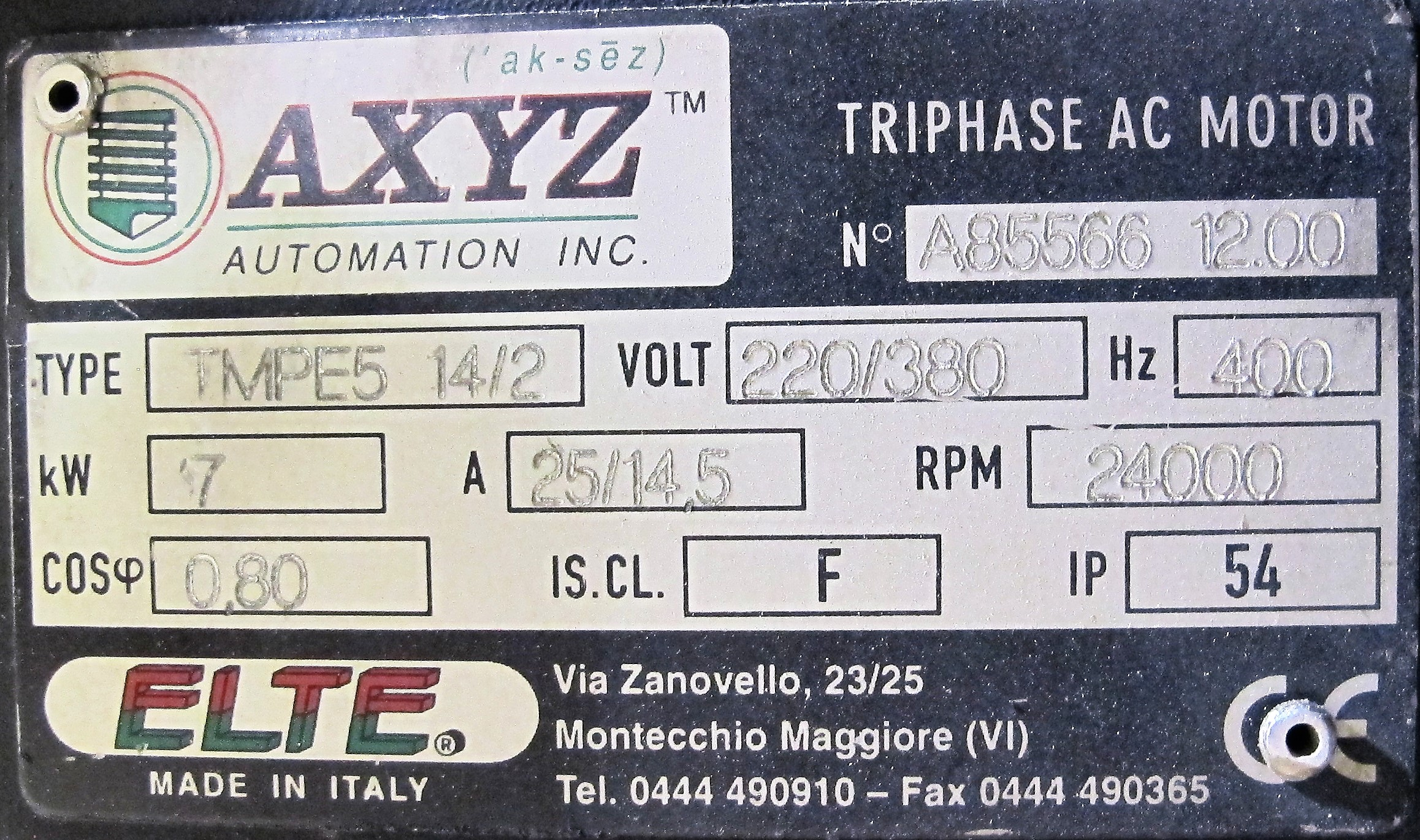 Lot 12 - 2001 AXYZ 6012 CNC ROUTER, (2) INDEPENDENT SPINDLES W/ DRILL TOOL, 7' X 12' TABLE, S/N 01111,