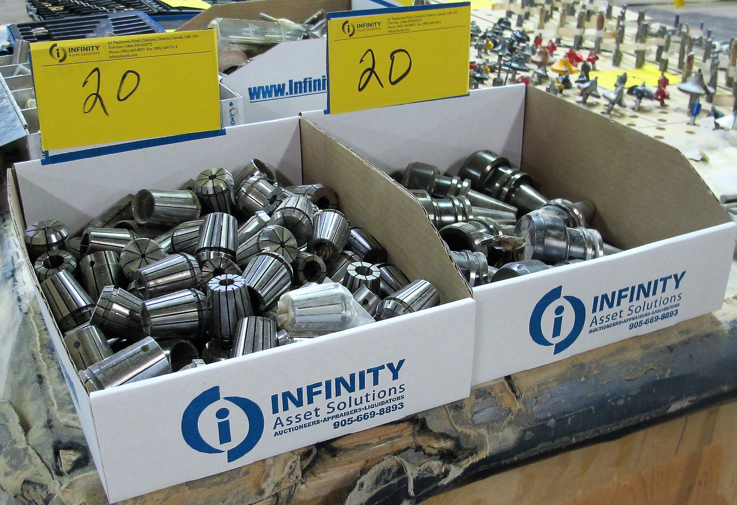 Lot 20 - LOT OF ASST. TOOL HOLDERS W/ COLLETS