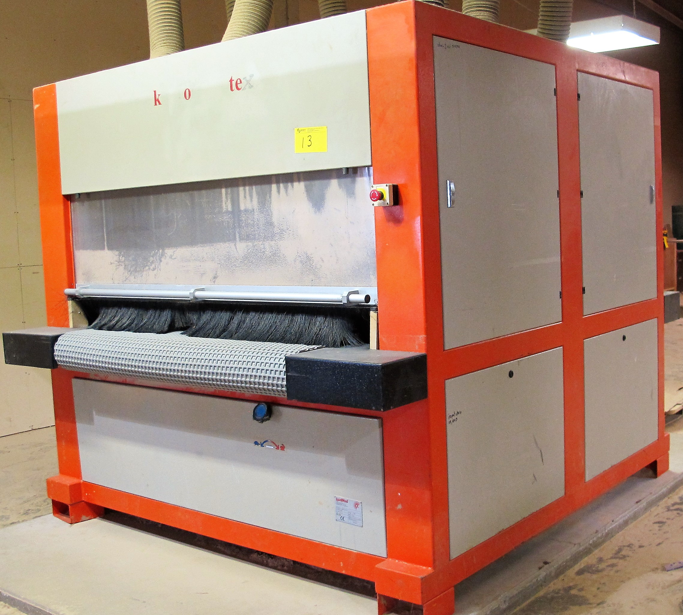 Lot 13 - 2003 QUICKWOOD SYSTEM PRO 1400 FINISHING SYSTEM, S/N 7302 W/ CONTROL PANEL & COMPUTER