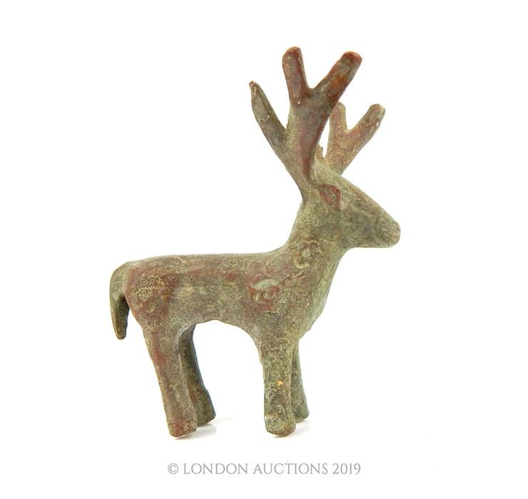Lot 26 - An Indo Persian Bronze Of A Deer.
