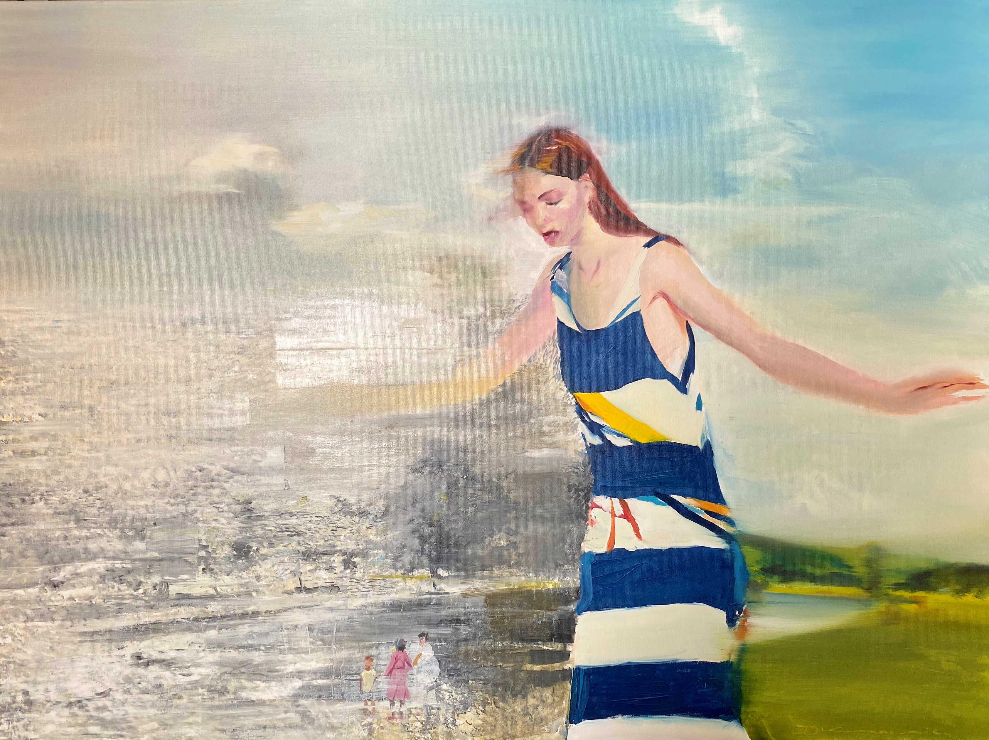 Dimos Kipouros (Greek), Survivor IV, 2019, oil on canvas, 90 x 120 cm