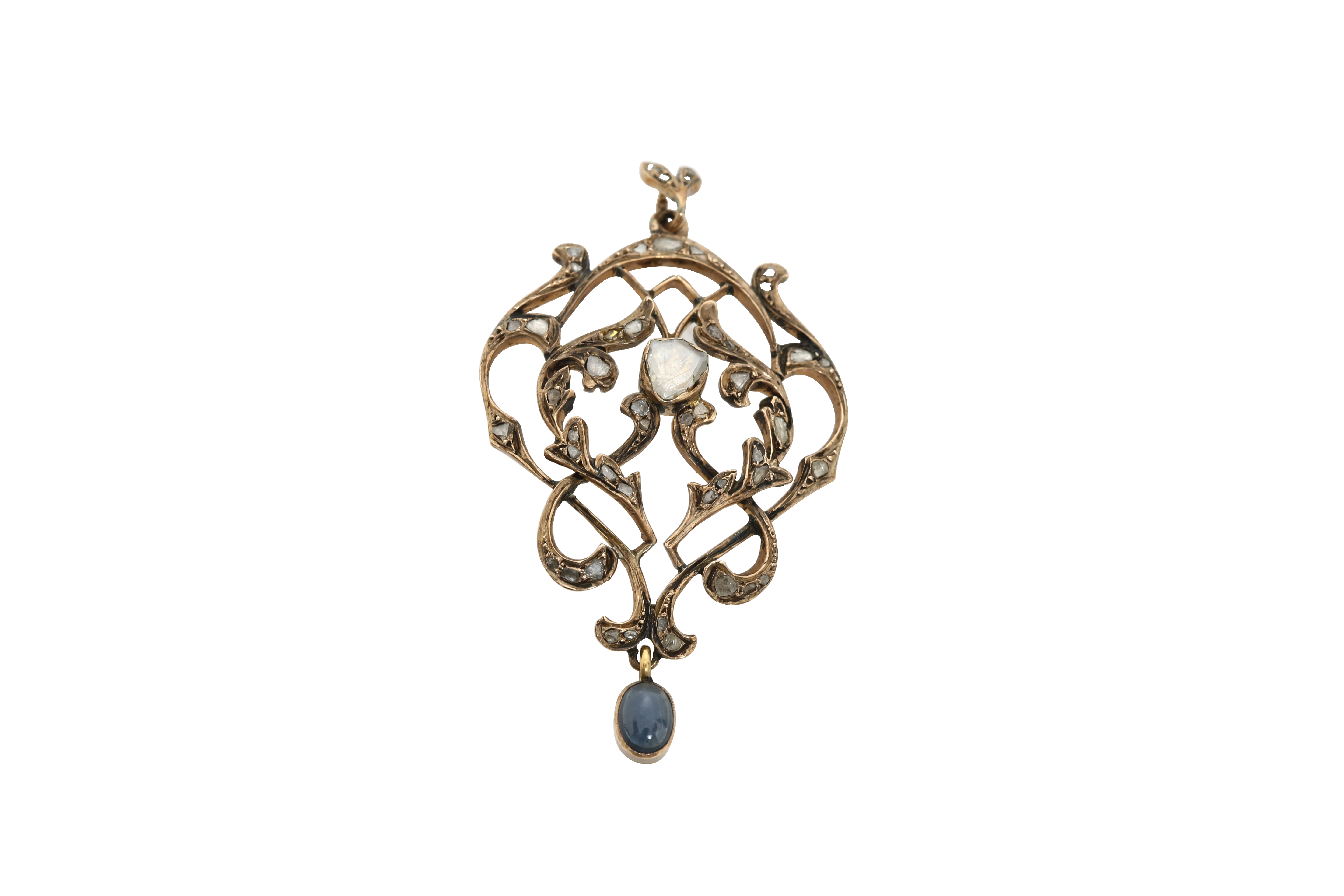 A circa 1900 Constantinople gold pendant. Approx: 7 gr. - Image 3 of 3