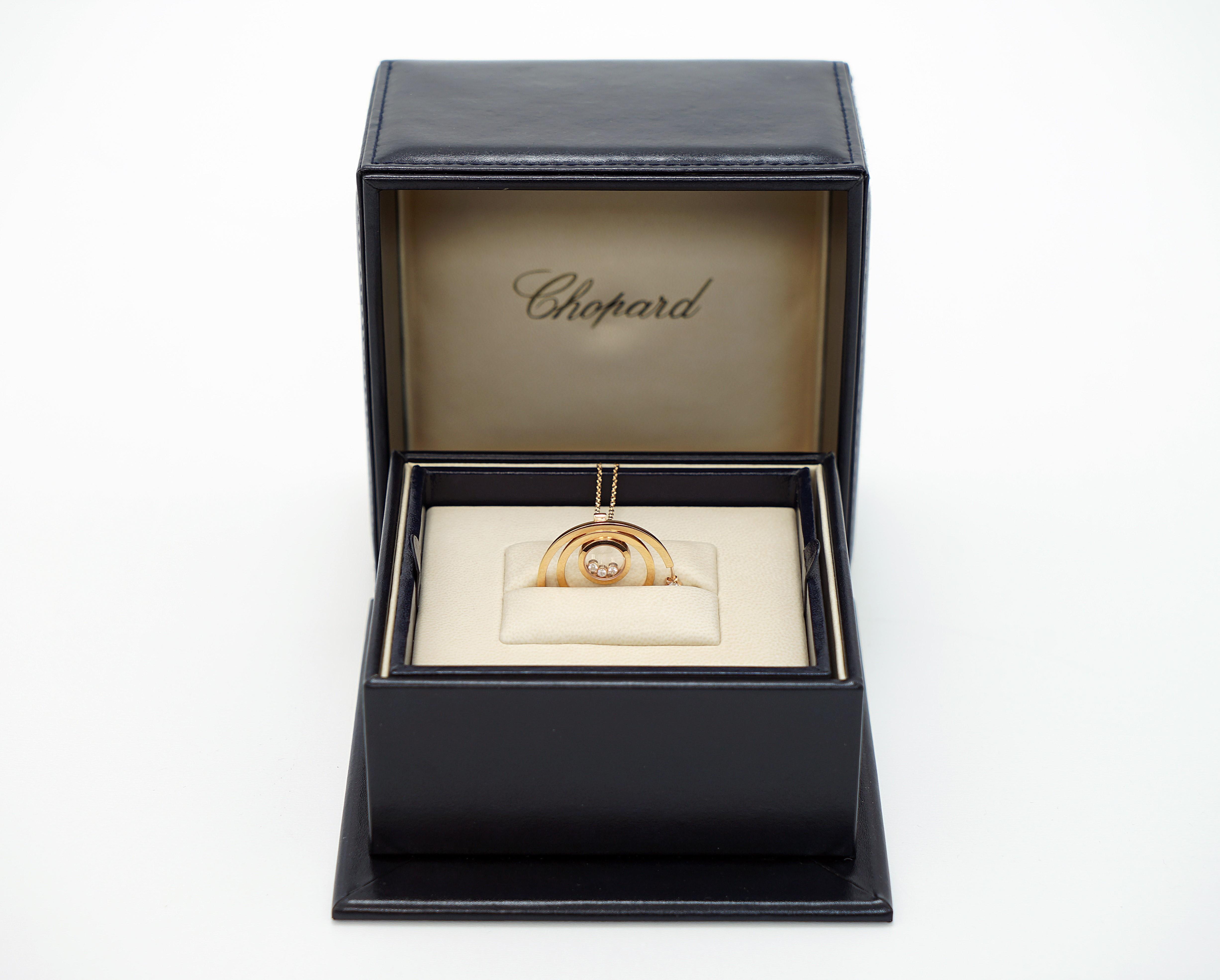 A Lady's Chopard 18K Rose Gold , Happy Diamonds pendant - Image 2 of 9