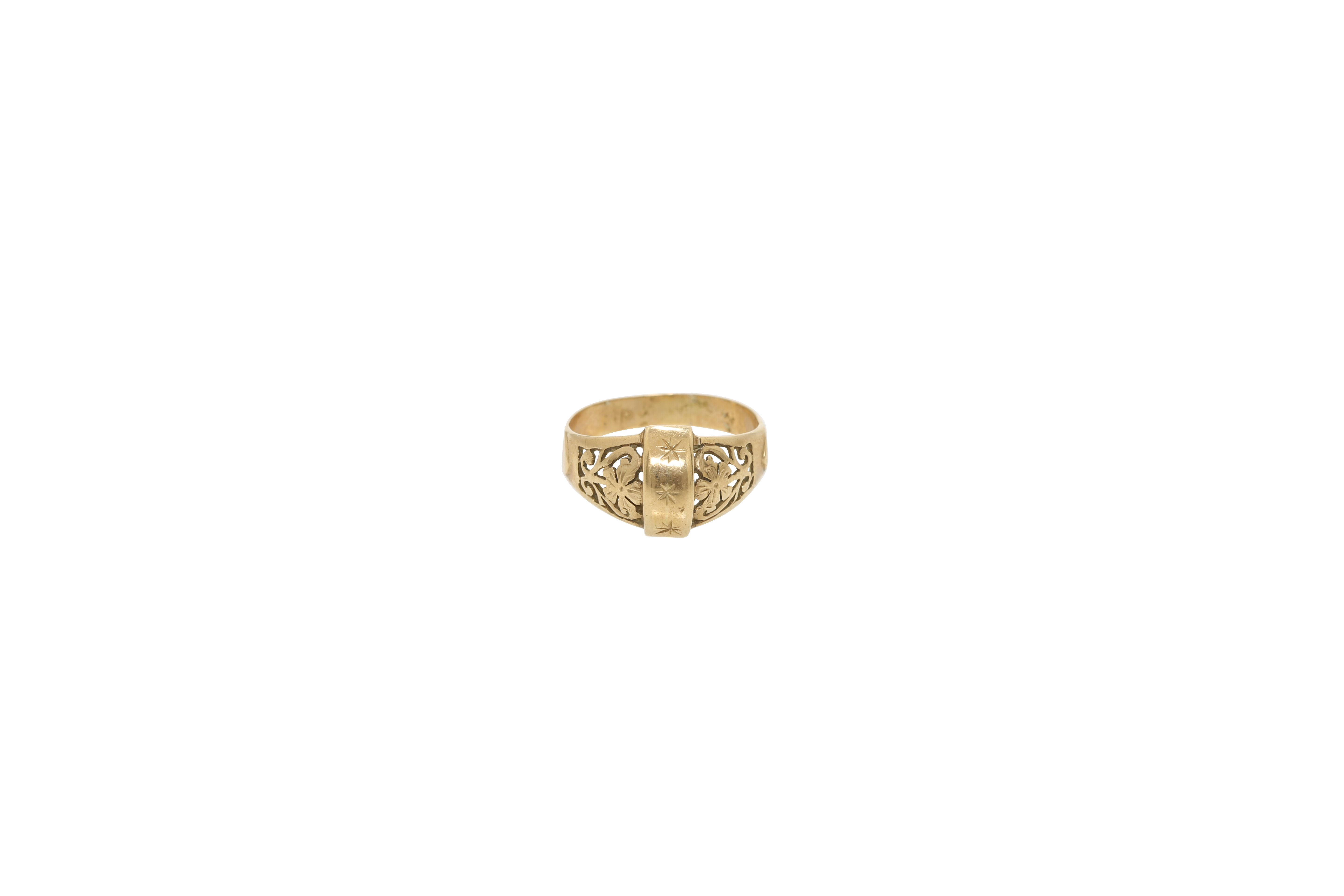 An early 20th century Constantinople gold ring. Approx: 3 gr