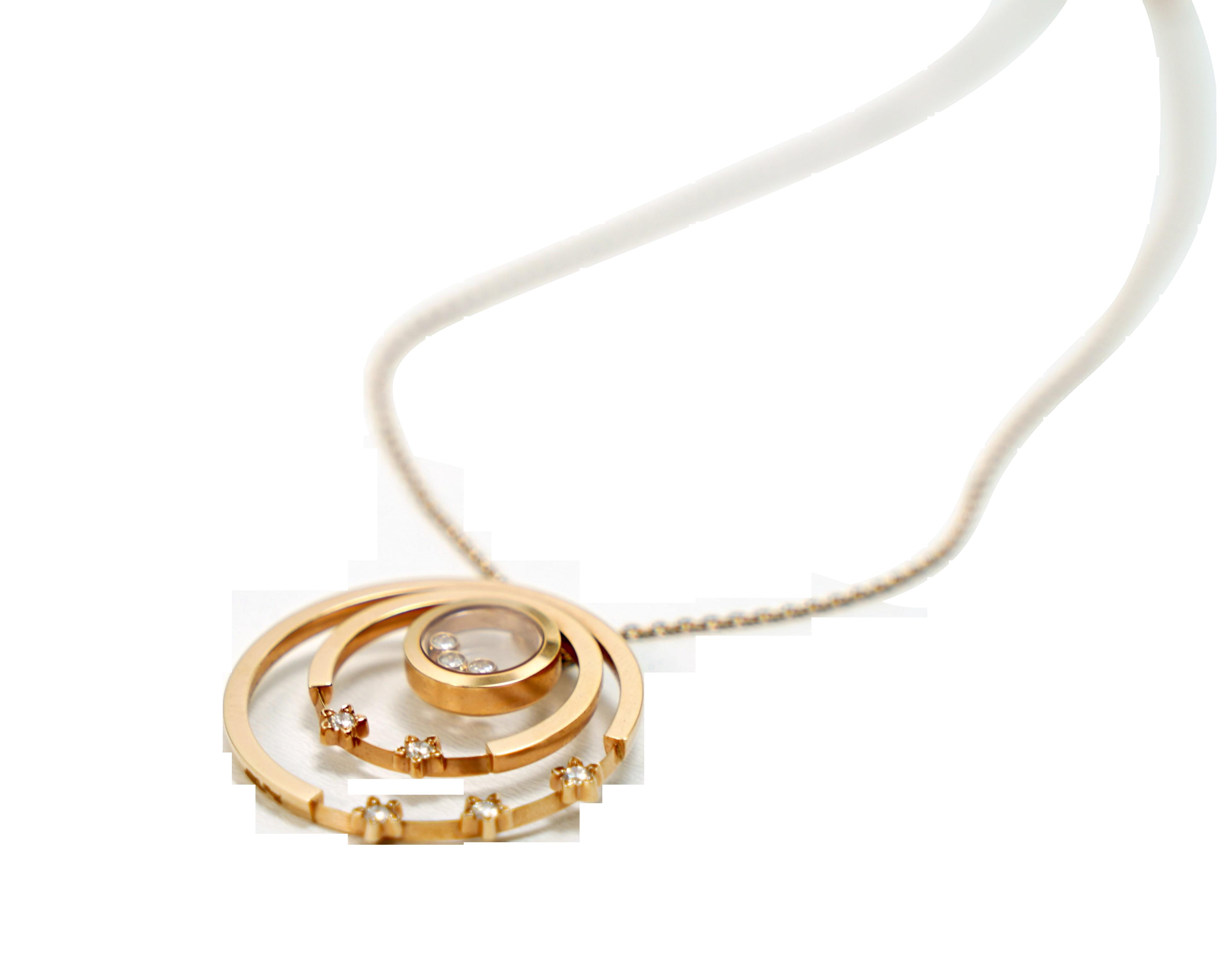 A Lady's Chopard 18K Rose Gold , Happy Diamonds pendant - Image 6 of 9