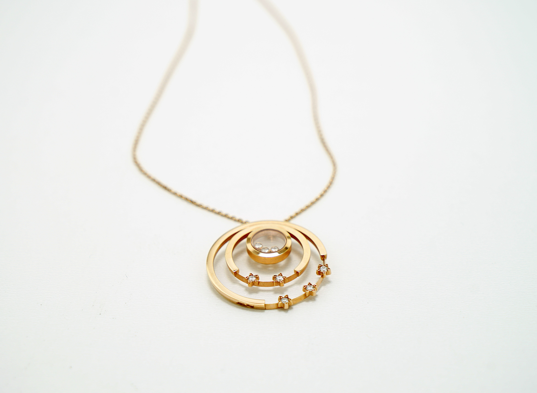 A Lady's Chopard 18K Rose Gold , Happy Diamonds pendant - Image 8 of 9
