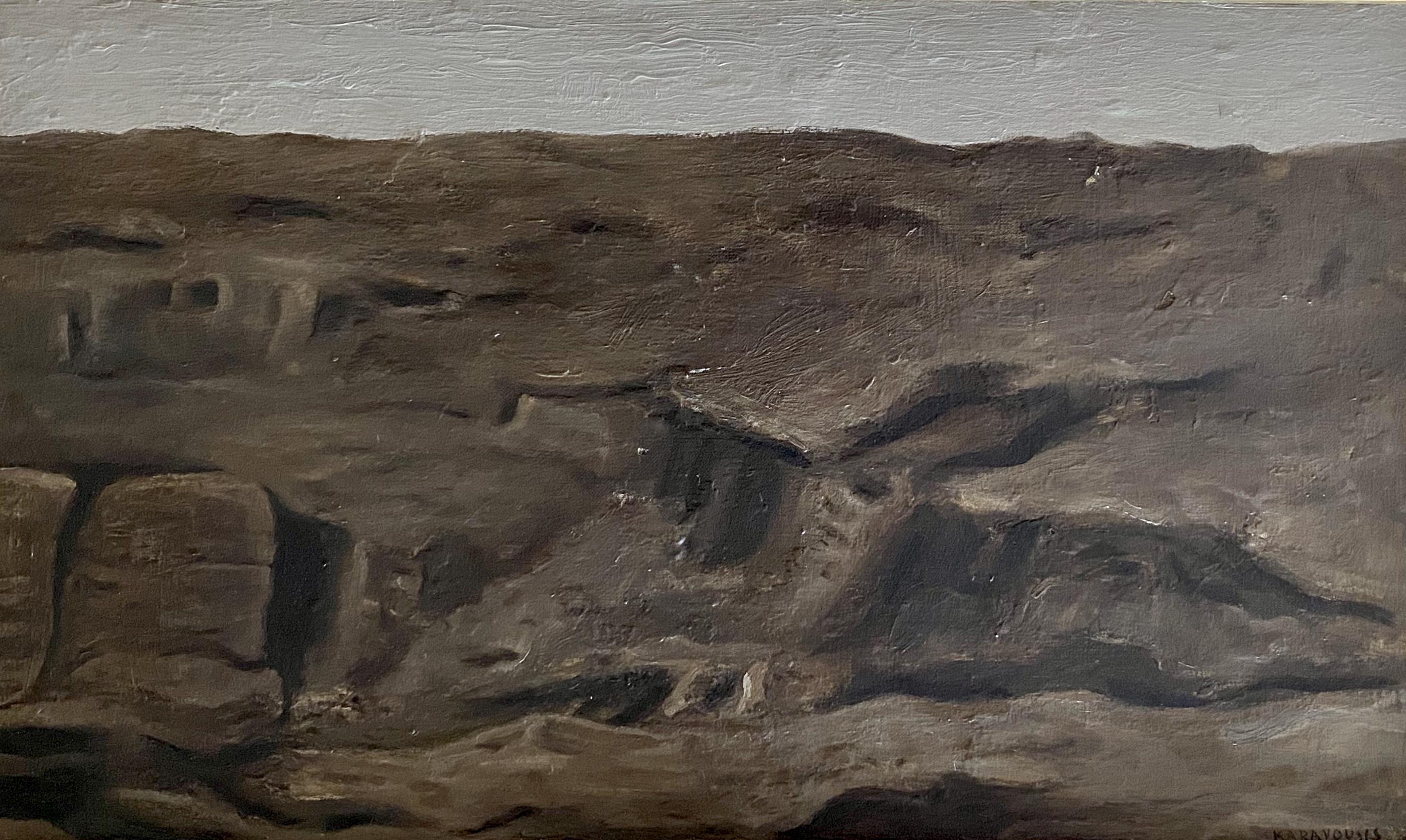 Sarantis Karavouzis (Greek, 1938-2011) (AR), Landscape, oil on canvas, 45 x 26 cm