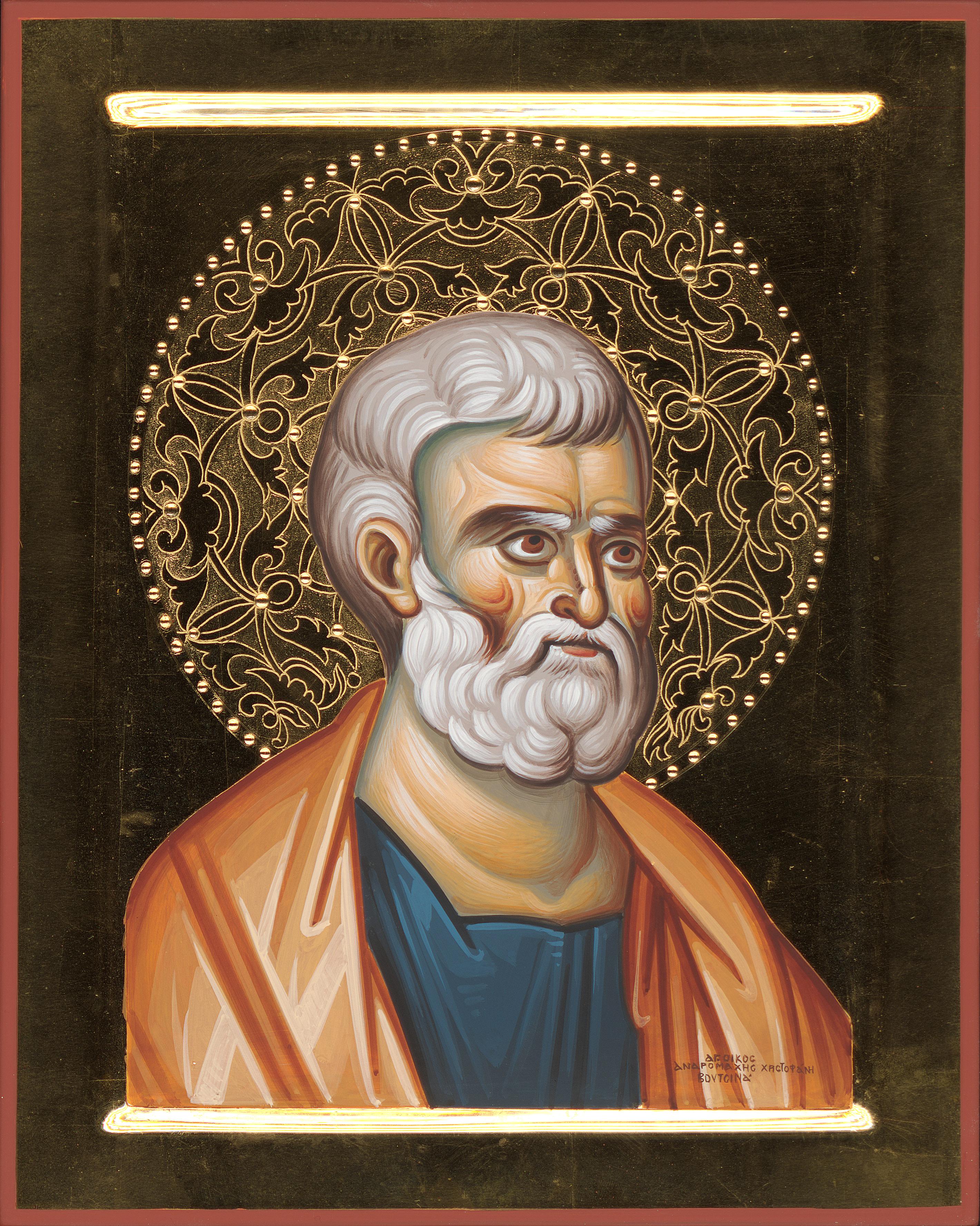 Andromachi Voutsina (Greek), Saint Peter the Apostle,, Tempera, 30 x 24 cm