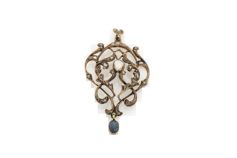 A circa 1900 Constantinople gold pendant. Approx: 7 gr.