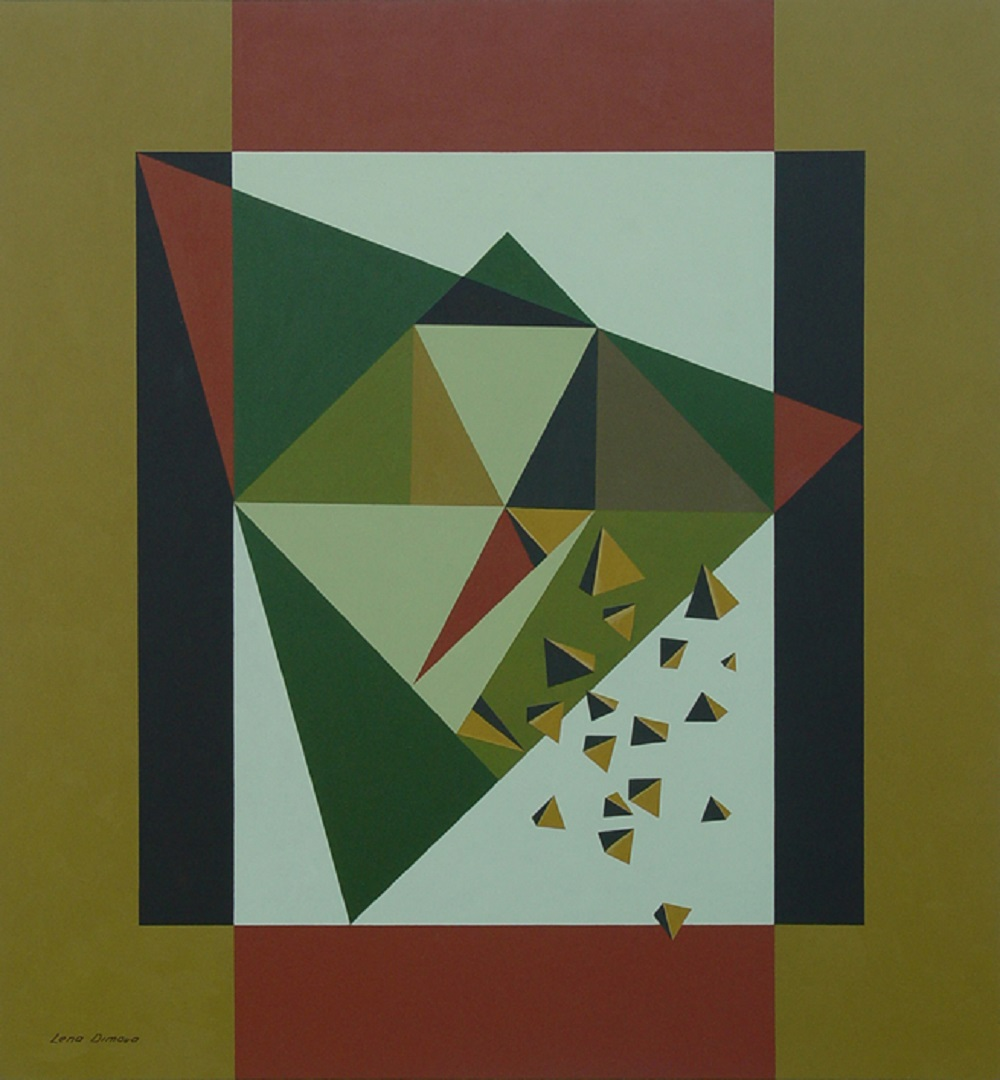 Lena Dimova, untitled, acrylic on panel, 54 x 51 cm