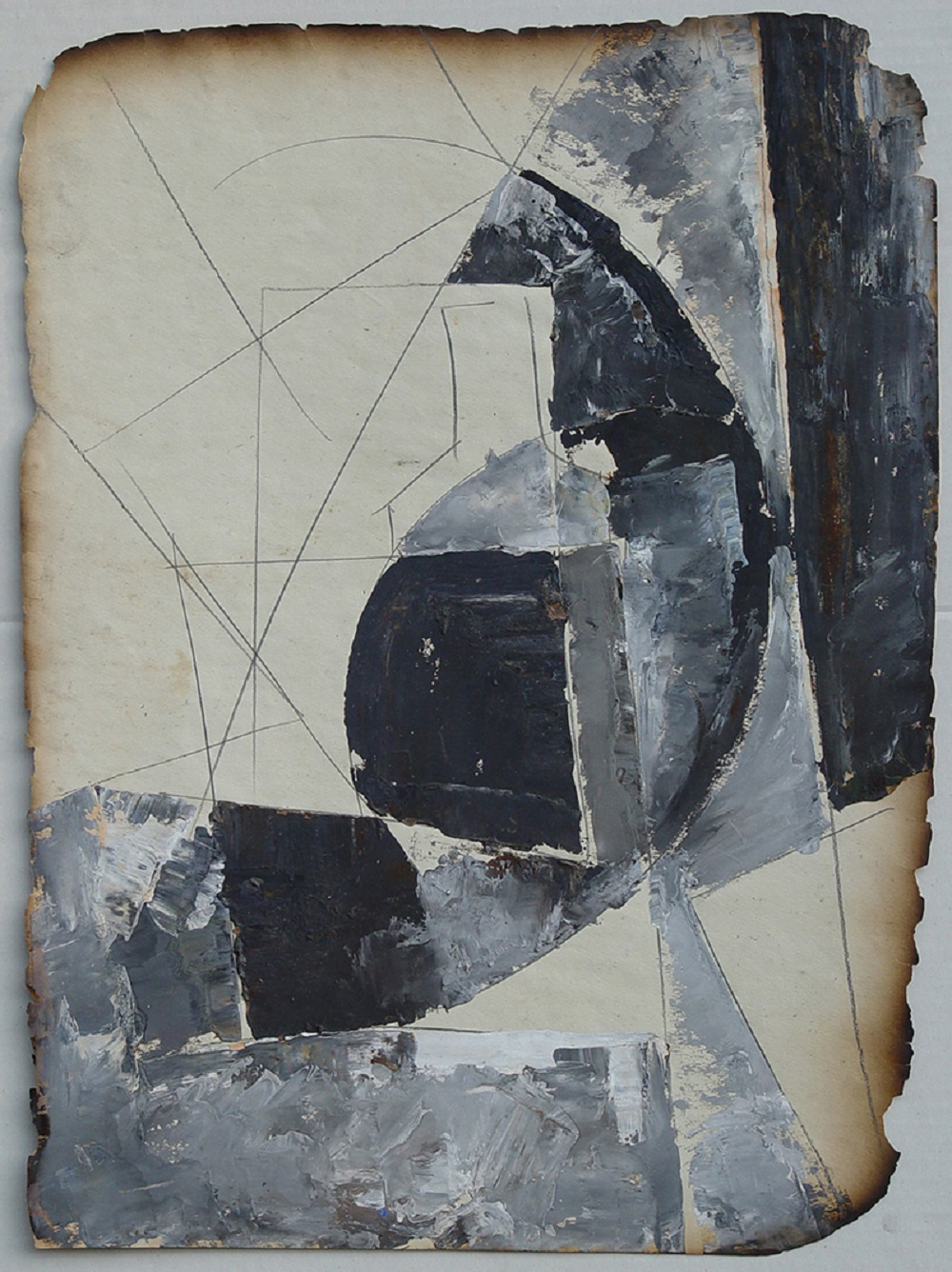 Anatoly Zverev (Russian, 1931-1986) (AR), untitled, gouache on paper, 56 x 42 cm