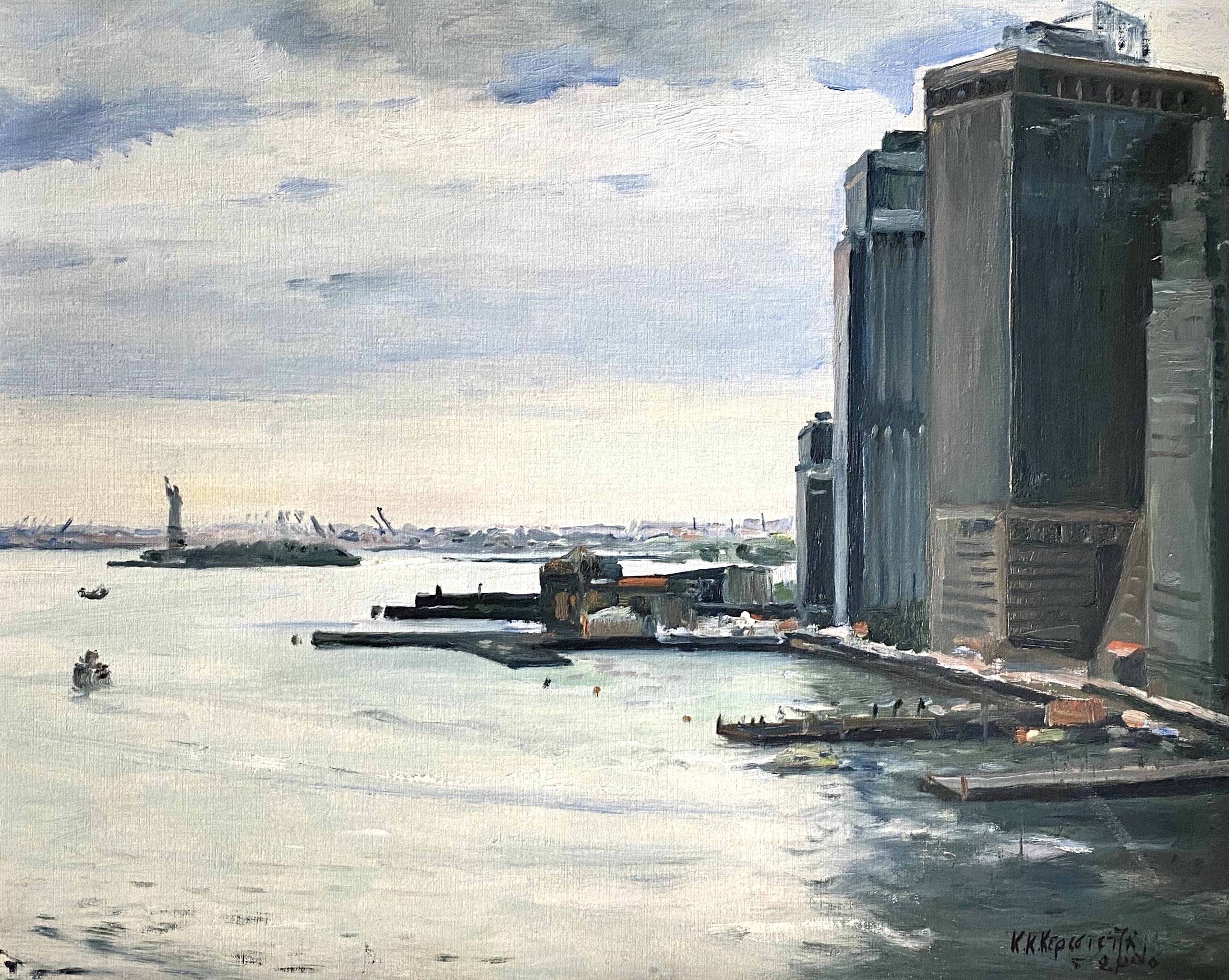 Constantinos Kerestetzis (Greek), New York, 2006, oil on cardboard, 40 x 50 cm