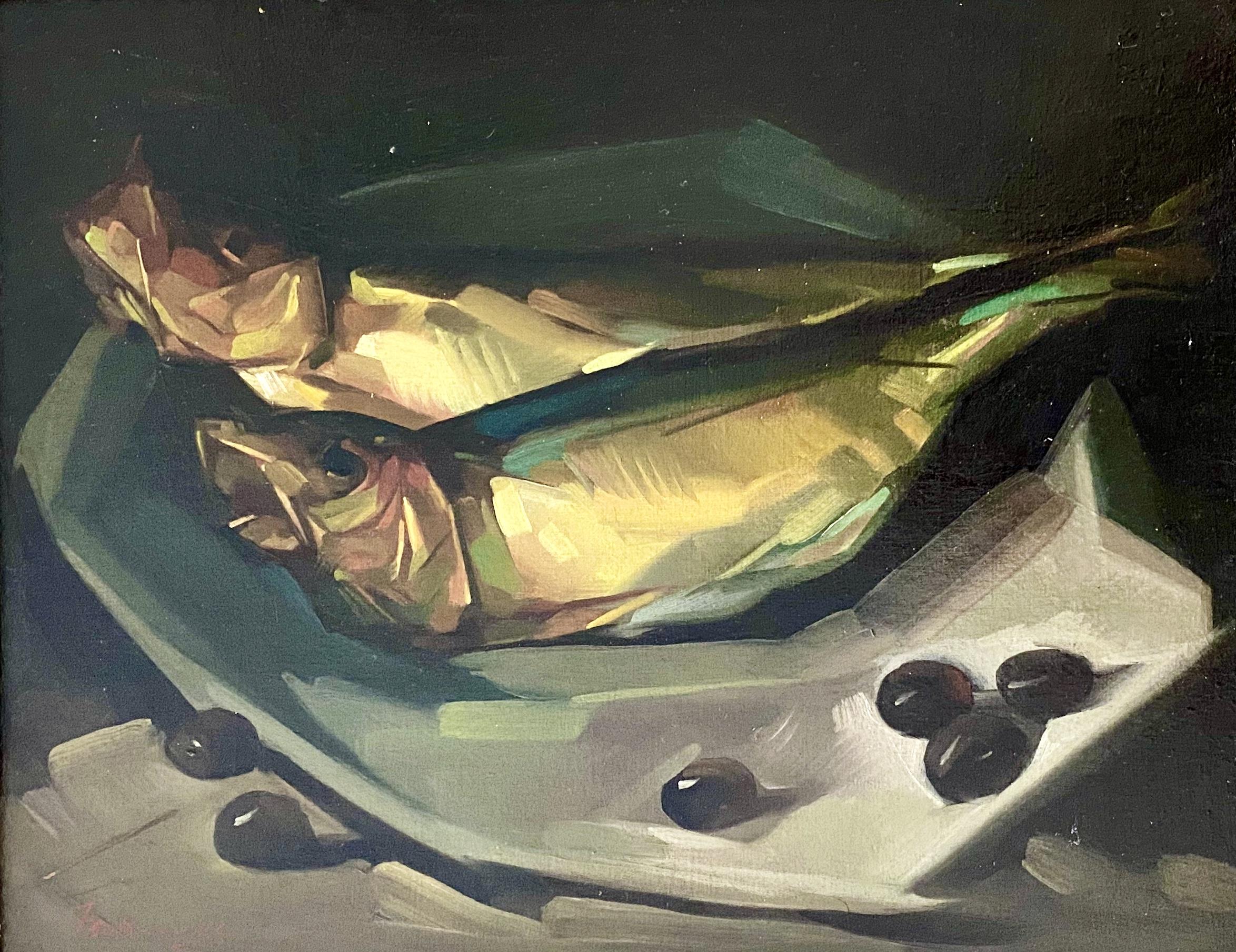 Ioannis Tzovanakis (Greek), Still Life, oil on panel, 27 x 34 cm