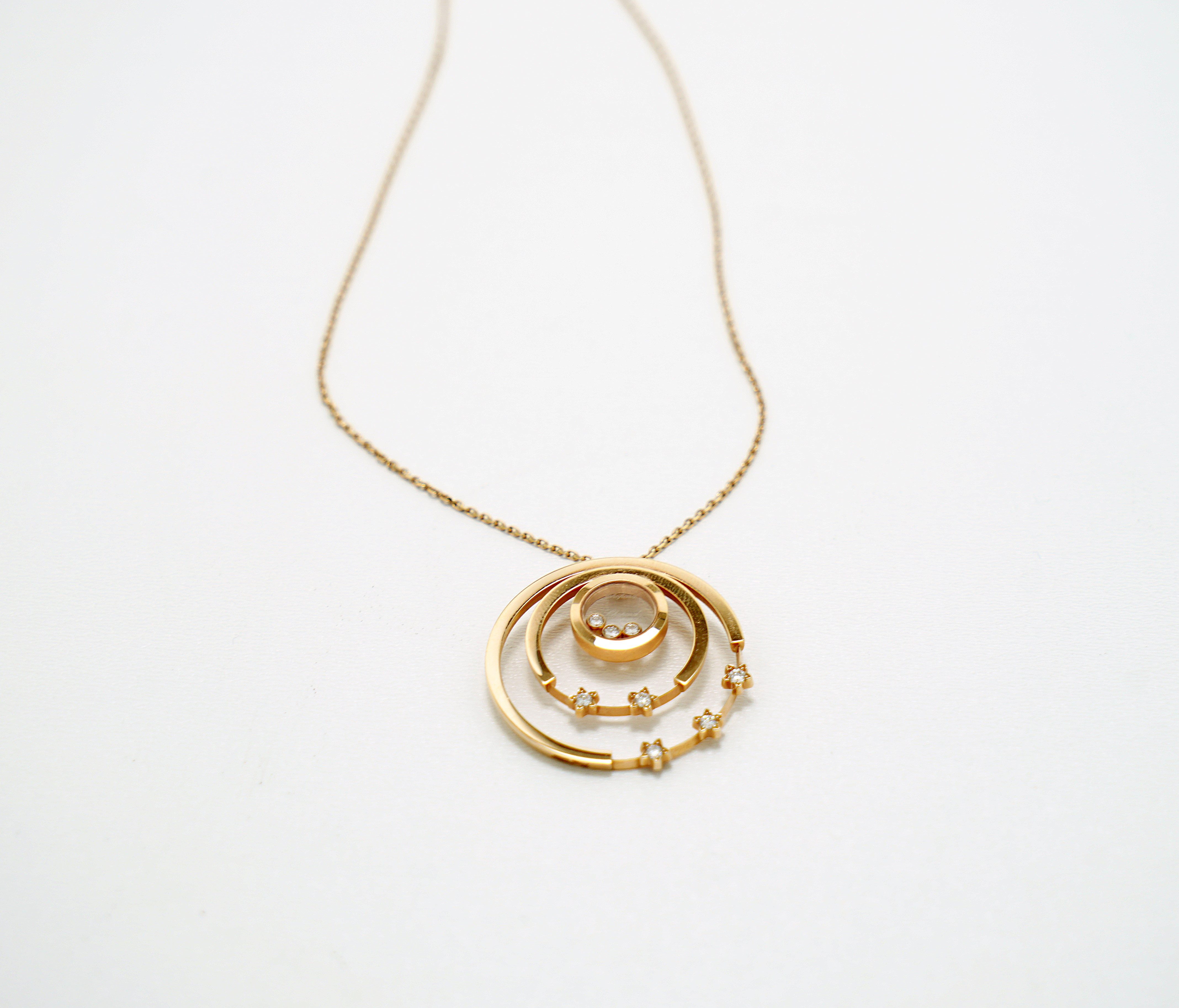A Lady's Chopard 18K Rose Gold , Happy Diamonds pendant - Image 7 of 9