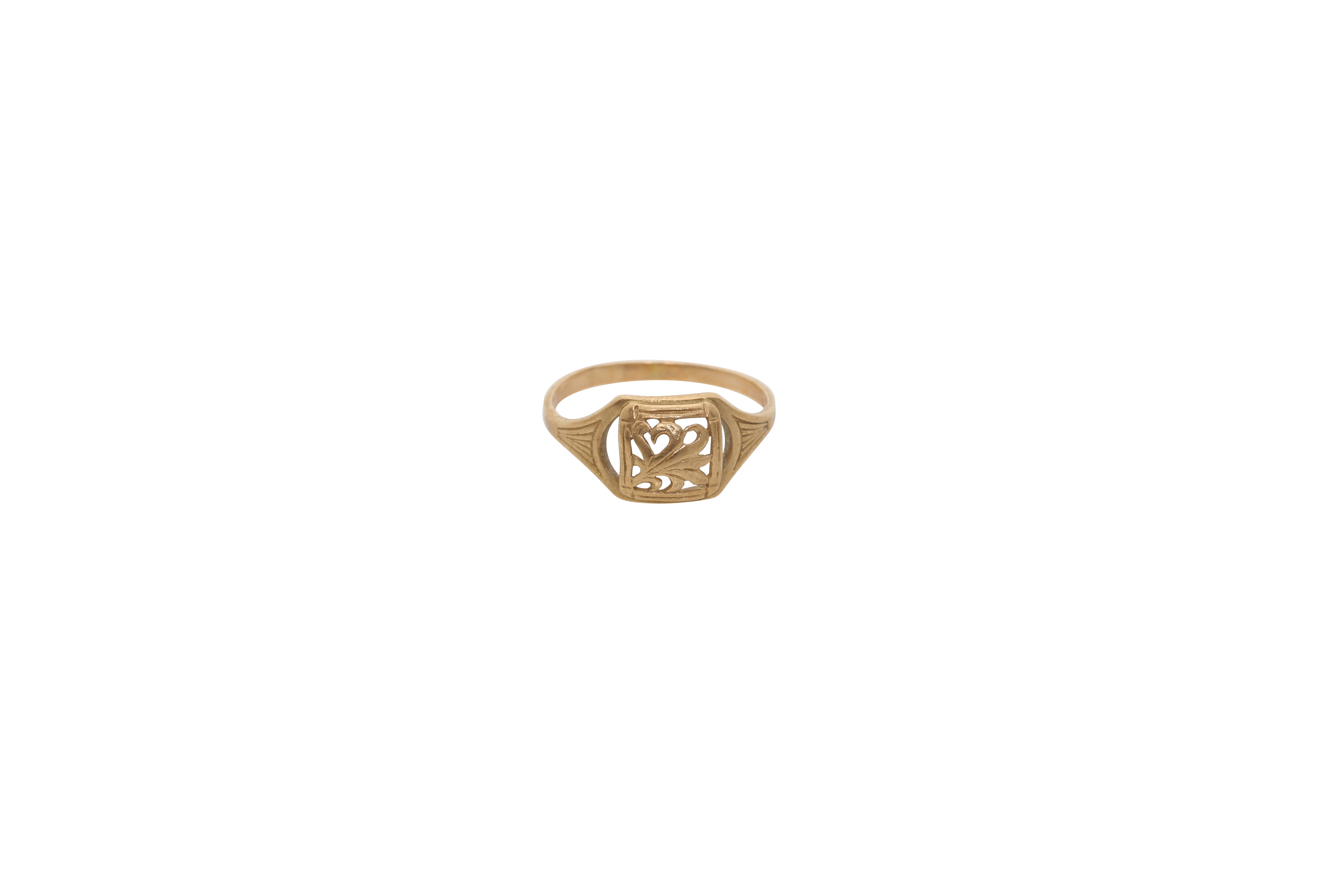 A gold Constantinople ring. Approx: 2 gr
