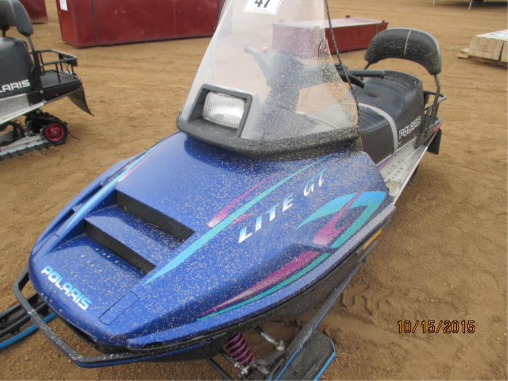 Lot 47 - 1997 Polaris Lite GT Snowmobile 3500 miles, (Snowmobile Cover, & Manuel  Available in Office)